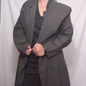 Vintage 90s Gray Button Business Jacket Blazer